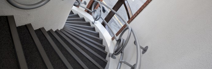 design and build - office spiraling staircase