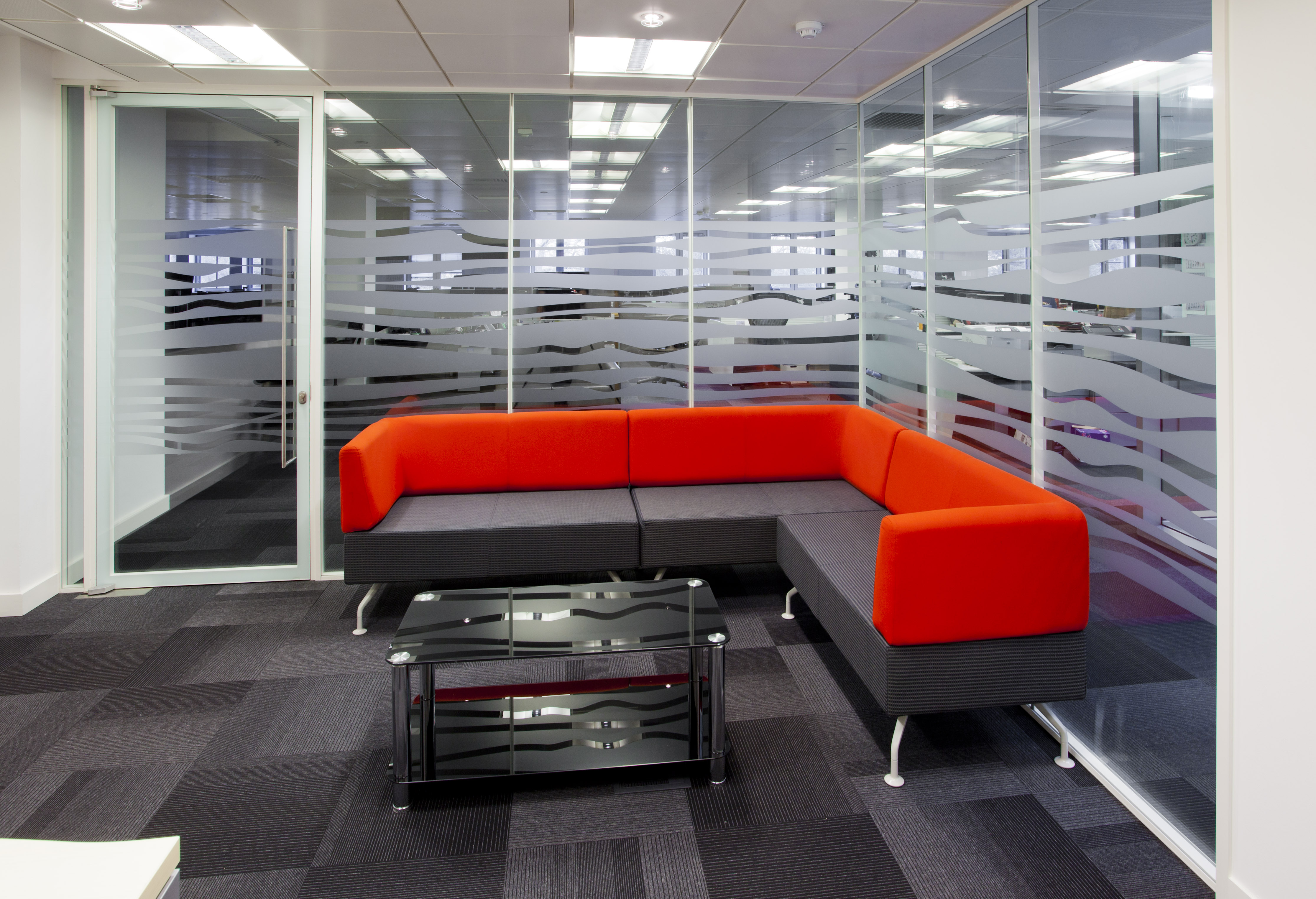 Soft seating office furniture in designed breakout space | Novex