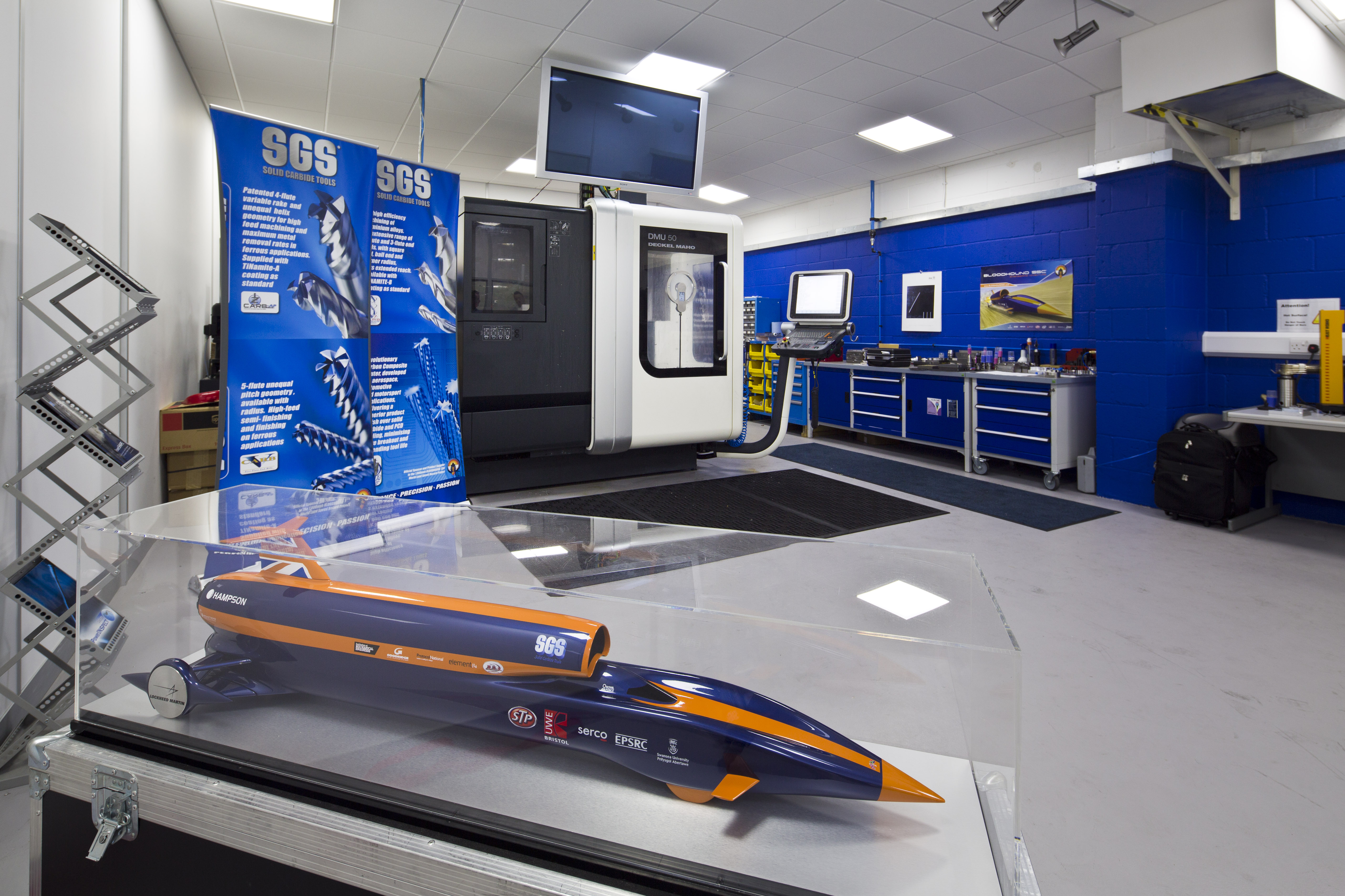 Demo room featuring the Bloodhound model