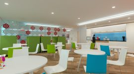 Case Study: 3D visual for office teapoint environment