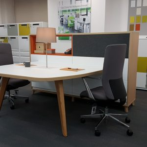 BisleyBe office furniture desking with integrated storage