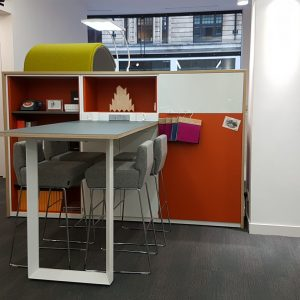 BisleyBe office furniture workbench with integrated storage