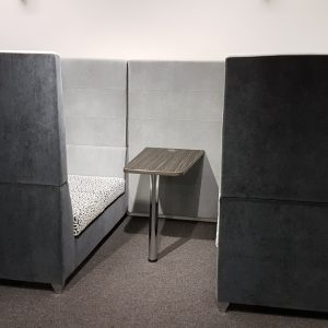 Office booth style seating