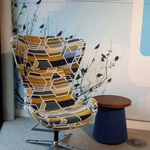 highback louge chair with awesome fabric