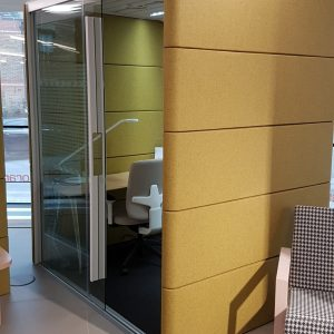 office within an office booth space