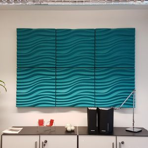Acoustic wall covering panels