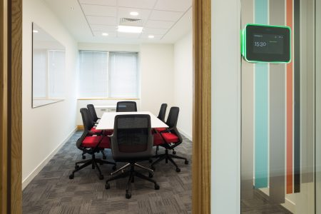 meeting room office furniture with digital booking system | Novex Solutions