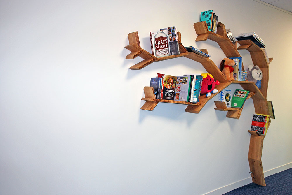 The Book People tree book shelf office design