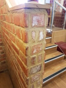 How not to tile brick slips office design faux pas