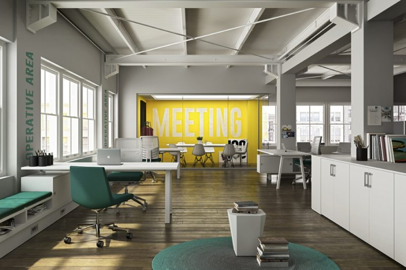 Sagal Group Furniture in a modern rustic style office environment